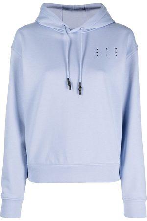 MCQ Embroidered logo hooded sweatshirt