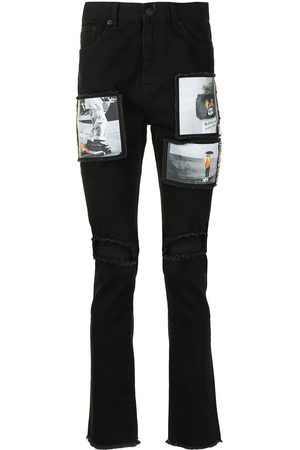 HACULLA Herren Slim - Distressed-Jeans mit Patches