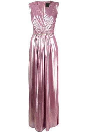 John Richmond Metallic gathered gown
