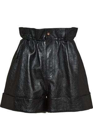Miu Miu Damen Shorts - Lambskin leather shorts