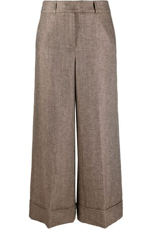 PESERICO SIGN Damen Weite Hosen - Wide-leg cropped trousers
