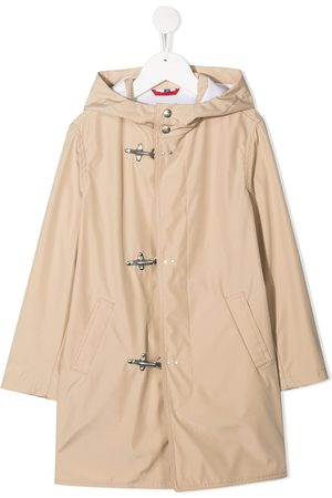 FAY KIDS Hooded parka coat - Nude