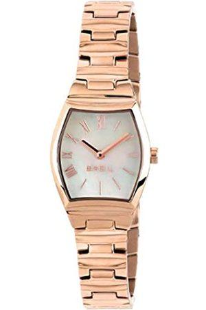 Breil Armbanduhr BREIL Frau Barrel quadrante Weiss e uhrarmband in Stahl rosa goldenen