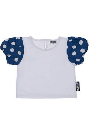 MOSCHINO T-shirt Aus Baumwolle Mit Logopatch