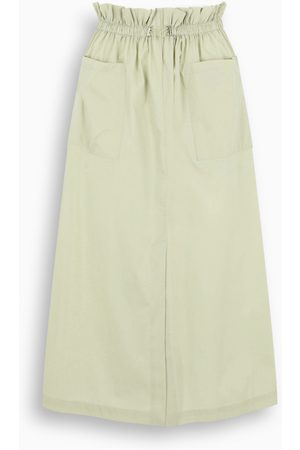 REMAIN Birger Christensen Light green flared skirt with pockets