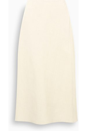 Jil Sander White flared skirt