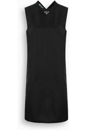 Prada Black Gabardine Re-Nylon sheath dress