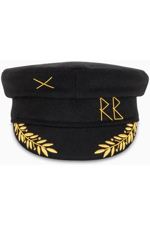 Ruslan Baginskiy Baker Boy cap with gold-tone embroidery