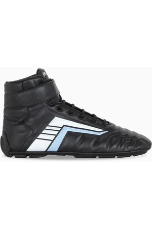 Prada Black/light blue Rev high-top sneakers