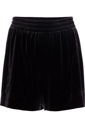 Norma Kamali High-Rise Shorts aus Samt