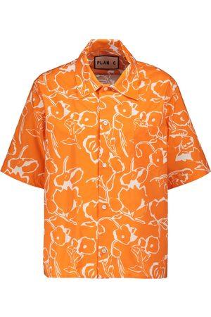 Plan C Bedrucktes Hemd aus Baumwolle