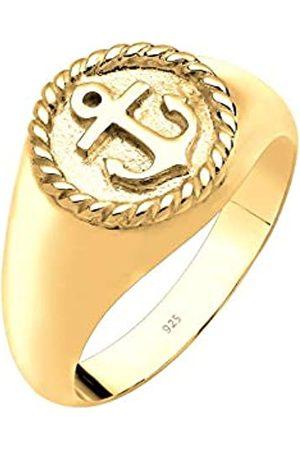 Elli Elli Ring Damen Maritim Anker Siegelring in 925 Sterling Silber