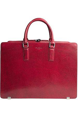 Dom Teporna Italy Dom Teporna Italy Aktentasche aus genarbtem italienischem Leder für Herren, Business-Tasche