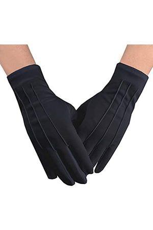 JISEN Herren Police Formal Smoking Honor Guard Parade Nylon Baumwolle Handschuhe 26 cm Gr. Einheitsgröße