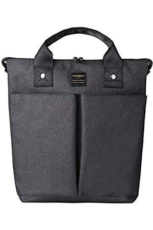 Kah&Kee Kah&Kee Laptop Rucksack Einkaufstasche Handtasche Verdeckter Riemen Computerfach Reiseschule FüR Frauen Mann (Schwarz)
