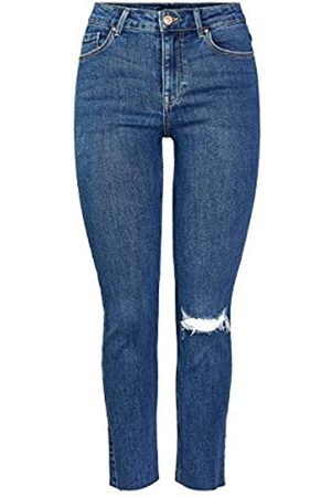 Pieces PIECES Female Slim Fit Jeans Mid Rise SMedium Blue Denim