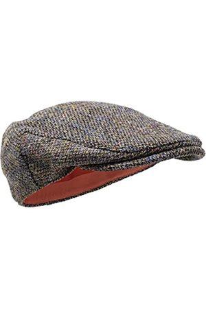 Borges & Scott Nevis Schirmmütze – Schiebermütze aus 100% handgewebter Wolle - Harris Tweed - wasserabweisend - 62cm