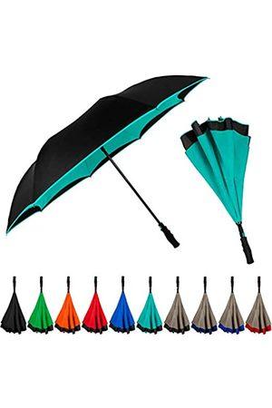 STROMBERGBRAND UMBRELLAS StrombergBrand Inversa Regenschirm (Wendeschirm), doppellagiger umgekehrter Regenschirm für Damen und Herren