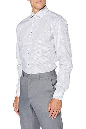 Seidensticker Herren Regular Langarm Print Popeline Klassisches Hemd
