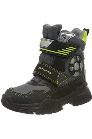 Geox Geox J NEVEGAL Boy ABX D Snow Boot, Dk Grey/Lime