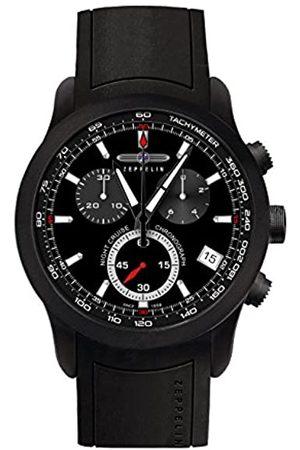 Junkers Zeppelin Herren Chronograph Quarz Uhr mit Kautschuk Armband 72902