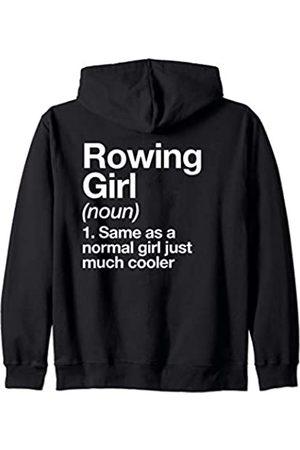 Rowing Girl Funny Sports Typography Designs Ruderndes Mädchen Definition Funny Rudern Sport Kapuzenjacke