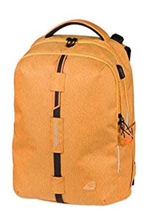 Karen Walker Rucksack Elite Wizzard Mustard Melange, mit 2 Fächern, Laptopfach, Seitentaschen, atmungsaktive Polster, verstellbarem Hüft-, Schulter- und Brustgurt, ca. 32 x 46 x 23 cm