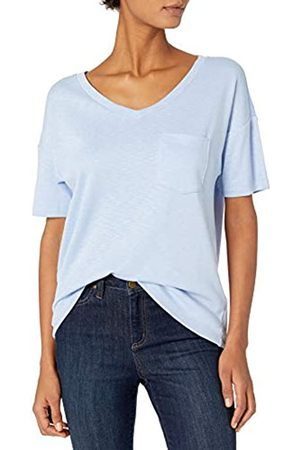 Daily Ritual Cotton Modal Stretch Slub Short-Sleeve V-Neck Pocket T athletic-shirts