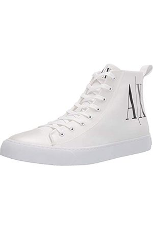 Armani Herren SNK P.COT.Twill+TPU+ Hohe Sneaker, (Op.White+Black Logo 00152)