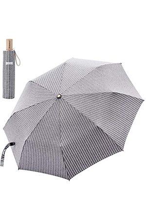 YJ Online Leodauknow-kompakter Reise-Regenschirm, Wind- und wasserfest, verstärkter Überdachung, 210T kationischer Stoff, super Wasserdichte Schale, Stoff