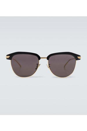Bottega Veneta Eckige Sonnenbrille aus Metall