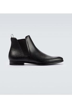Prada Ankle Boots aus Saffiano-Leder