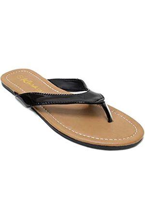 KARA LS013 Damen Classic Casual Flat Thong Flip Flops Sandalen Schuhe