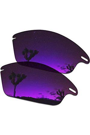 SmartVLT SmartVLT Herren Ersatzgläser für Oakley Fast Jacket OO9097 Sonnenbrille – weitere Optionen, (Plasma Purple)