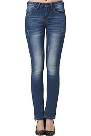 Camii Mia Camii Mia Damen Jeanshose Slim Fit Fleece Gefüttert Stretch Mid Waist Winter Jeans (W29 x L30)