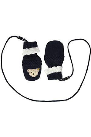 Steiff Baby-Mädchen mit süßer Teddybärapplikation Babyfäustlinge, Navy