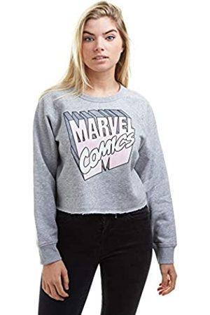 Marvel Marvel Damen Retro 3D Logo Cropped Sweatshirt Pullover