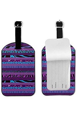 MOONLIT DECAYED Gepäckanhänger aus PU-Leder, mit verstellbarer Schlaufe, für Koffer, Namensschild, Namensschilder