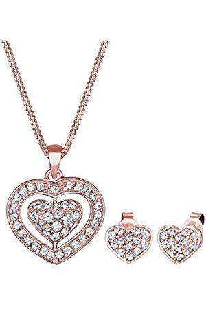Elli Elli Schmuckset Herz Swarovski® Kristalle Pretty 925 Silber