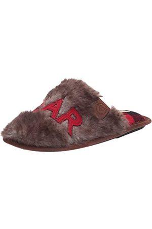 Dearfoams Damen Furry Grand Bear Scuff Slipper