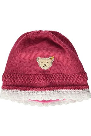 Steiff Baby-Mädchen mit süßer Teddybärapplikation Mütze