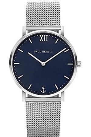 Paul Hewitt Armbanduhr Edelstahl Sailor Line Blue Lagoon (Damen und Herren) - Uhr mit Edelstahlarmband , Armbanduhr in