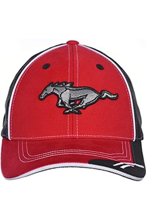 Checkered Flag Sports Karierte Flagge Herren Ford Mustang Logo Cap Verstellbar Rot & Schwarz Hut