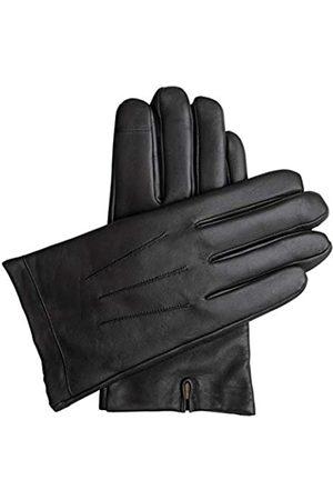 Downholme Downholme – Touchscreen-Lederhandschuhe mit Innenfutter aus Kaschmir – für Herren (Schwarz