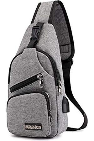 Meijieluo Schulter-Rucksack Urban Travel Crossbody Bag Sling Bag Herren Oxford Small Casual Outdoor Travel USB Charging Port