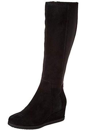 Geox Damen D ANYLLA Wedge I Knee High Boot, Black