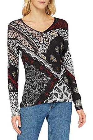 Desigual Womens JERS_Bergen Pullover Sweater, Black