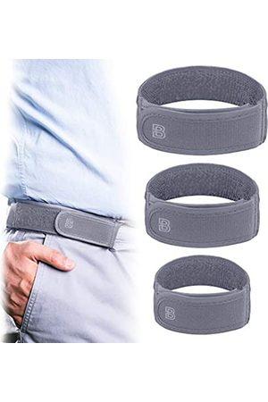 BeltBro Titan Elastischer Gürtel für Herren ohne Schnalle — 3er-Pack (S, M, L) — passend für 3,8 cm Gürtelschlaufen