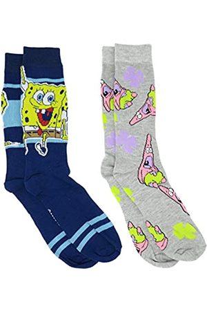 HYP Spongebob Schwammkopf und Patrick Stripes Herren Crew Socken 2er Pack