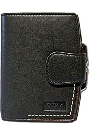 Mika MIKA 14213611 - Geldbörse aus Echt Leder, Portemonnaie im Hochformat, Geldbeutel mit 7 Kreditkarten Fächer, 3 Einschubfächer, 2 Scheinfächer und Münzfach, Brieftasche in